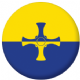 Durham County Flag 58mm Button Badge